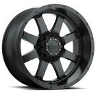 4 17x9 Black Gear Alloy Big Block 726 6x135 6x55 18 Nitto Mud Grappler 33x12