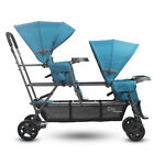 Joovy Big Caboose Graphite Stand-on Triple Stroller - Turquoise