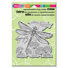 STAMPENDOUS RUBBER STAMPS CLING DRAGONFLY WINGS NEW cling STAMP