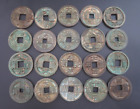 RARE Collect 20pc Chinese Bronze Coin China Old Dynasty Antique Currency Cash 1