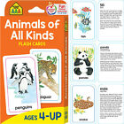 Animals of All Kinds Flash Cards Kids Toddlers Learning Educational Age 4 and Up