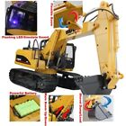 Rechargeable RC Excavator 24G 15 Channel Metal Hydraulic Truck Construction Toy