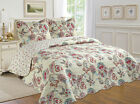 ALL FOR YOU 3pc Reversible Bedspread CoverletQuilt Set Pattern 119