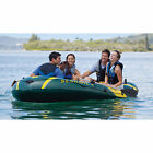 Intex Inflatable Blow Up Seahawk 4 4 Person Fishing Rowing Boat 1050 lb Cap