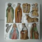 HOMCO Christmas Porcelain Figurines 9 Piece Nativity Set