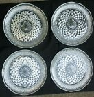 SET OF 4 ANCHOR HOCKING WEXFORD 9.5 INCH DINNER PLATES SCALLOPED EDGE