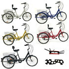 24 Adult 7 Speed Shimano 3 Wheel Tricycle Trike Bicycle Bike Cruise With Basket