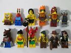 Lego Minifigures SpongeBob Werewolf Indiana Jones Jack Sparrow & More Lot E