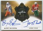 Barry Sanders & Jerry Rice 2013 UD ultimate collection dual auto autograph 10 15
