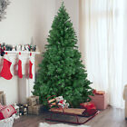 BCP 6ft Hinged Artificial Christmas Pine Tree w Metal Stand Green