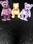 Ty Beanie Babies Lot Of 3 - 2000 Signature, Shasta, Columbus (NO SWING TAGS)