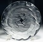 Vintage Lalique Crystal France Salad Plate Chene Oak Leaves Pattern Signed 7