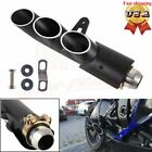Triple Outlet Motorcycle Exhaust Muffler Tail Pipe Slip on 51mm Universal YZF-R6