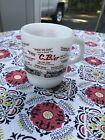 FIRE KING CB Radio Vintage Coffee Mug - Citizens Band Trucker Anchor Hocking Cup