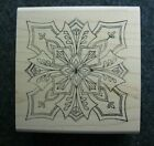 HOLLY BERRY HOUSE MEDALLION Rubber Stamp Stampinsisters 1111