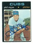 Autographed 1971 Topps PHIL REGAN Chicago Cubs Card #634 - w COA