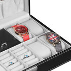 8 Watch Jewelry Box Case Organizer Leather Collection Display Storage