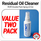 2 x ROR Professional Lens Cleaner 2oz Spray Bottle Residual Oil Remover