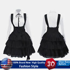 Women's Classic Lolita Dress Vintage Anime Girl Black Knee Length Cosplay Dress