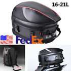 1X USA Stock Motorcycles Travel PU Leather+PVC Luggage Rear Seat Tail Bag 16-21L