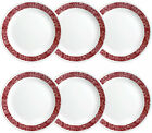 Bandhani 1025 Dinner Plate Set of 6 Dinnerware Glass Round Corelle Livingware