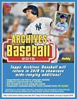 2018 Topps Archives Baseball Factory Sealed Hobby Box 24 Packs 2 AUTOS PER BOX