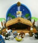 Fisher Price Little People Nativity Set Manger Christmas figures Lights Music