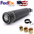 Matte Black Motorcycle Exhaust Pipe Muffler For Harley Cafe Racer Bobber Honda