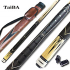 TaiBA 2 Piece Pool Stick with 1x1 Case13mm Multilayer Leather Tip 58 Maple