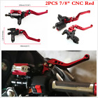 CNC Universal Motorcycle 7/8'' 22mm Brake Master Cylinder Clutch Reservoir Lever