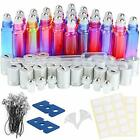 24 Pack 10ml Gradient Color Roller Bottles with Stainless Steel Roller Balls