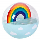 SunnyLIFE Classic Large Inflatable Round Beach Ball Summer Pool Toy Rainbow