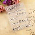 Happy Birthday Easter Silicone Clear Stamp DIY Scrapbooking Album Paper Card