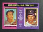 1975 Topps 1962 MVP Mickey Mantle Maury Wills #200 NM MT