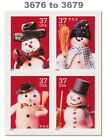 3676 79 3679 3679a Holiday Snowmen Block of 4 From Sheet 2002 MNH Buy Now