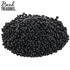 Opaque Black Glass Seed Beads 15 0 114g