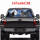 14746CM Car Rear Window Wolf Tribe Graphics Decal Sticker Exterior Accessories