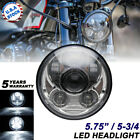 575 LED Chrome Headlight Round For Harley Dyna Wide Glide FXDWG Low Rider