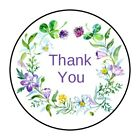 30 Thank You Envelope Seals Labels Stickers 15 Round flowers boho floral