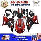 Fit for Kawasaki Ninja 2006-2011 ZX14R ZZR1400 Red Black Injection Fairing v0w-A