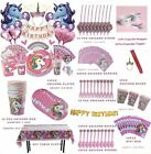 132 Pcs Unicorn Party Supplies Birthday Kit For Girls Complete Set Decorations