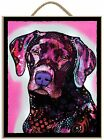 Prints Charming Black Lab by Dean Russo Hanging Plaque 95x11 inches