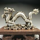 Collectable Tibet Silver Hand Carved Chinese Dragon Statue