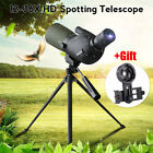12 36x50A Zoom Monocular Telescope BAK4 Spotting Antifogging Scope With Tripod
