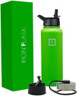Iron Flask Sports Water Bottle 32 Oz 3 Lids Vacuum Insulated Stainless Hot