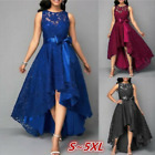 Womens Bridesmaid Lace Long Dress Party Dresses Formal Wedding Slim Fit Cocktail