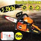 75cc 52KW Gasoline Chainsaw Cutter With 20 Bar  Chains Kit Cutting Chain Saw
