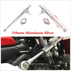 330mm Aluminum Alloy Scooter Motorcycle Steering Damper Fork Stabilizer Silver