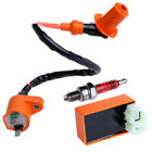 6 Pin CDI Ignition Coil Spark Plug kit For GY6 50cc125cc 150cc Scooter Mopeds