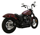 Shortshots Staggered Black Full Exhaust VaH 47233 For 18 19 Harley Softail